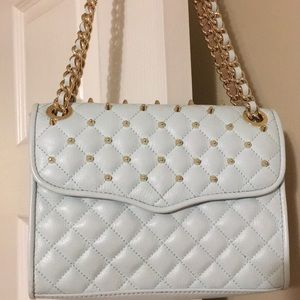 Rebecca Minkoff Quilted Stud Crossbody!